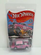 Rare Authentic Hot Wheels RLC 55 Chevy Bel Air Gasser Candy Striper Pink #1702