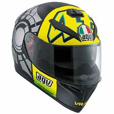 AGV K3 SV Rossi Winter Test Black Motorcycle Helmet S 56cm 24210756