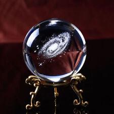6/8CM Diameter Globe Galaxy Miniature Crystal Ball 3D Laser Engraved Quartz ball