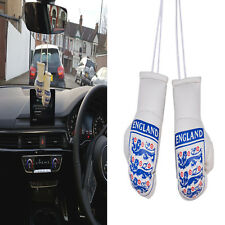 CAR Mini Boxing Gloves Pair 3 Lions ENGLAND Rear Mirror Hanging Hanger Accessory