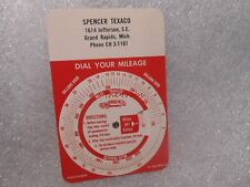 Vintage Texaco Gas Dial Your Mileage Identification Card Grand Rapid Michigan