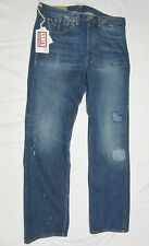 LEVI'S VINTAGE 1947 501XX BIG E Selvedge denim Patchwork Destroyed 36X32 NWT$395