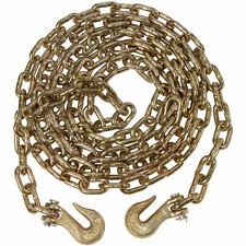 """Heavy Duty 5m 16ft Recovery Tow Towing Utility Farm Drag 3/8"""" Chain with Hooks"""