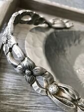 Vintage Hand Wrought Rodney Kent Aluminum Serving Tray Tulips  #404
