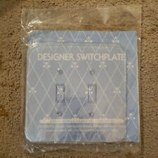 FOND MEMORIES, INC Designer double  Switchplate for Needlework with screws NEW