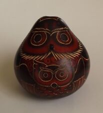 """Owl Figure Home Decor Collectible Bird 3 1/4"""" Tall New Handcrafted In Peru"""