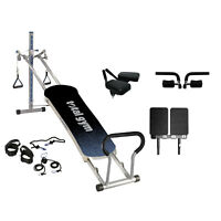 Total Gym Fitness Fusion Full Body Workout Home Fitness Exercise Machine, Grey