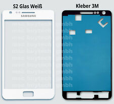 Samsung Galaxy S2 Galaxy i9100 i9105 Display Touch Screen Glas Weiss Front Glass