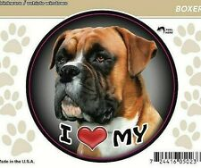 """I Love My Boxer Dog 3"""" Decal Sticker for Vehicle Windows or Drinkware"""