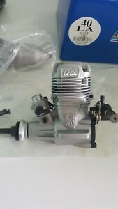 OS MAX 40 LA silver model airplane engine with muffler NEW