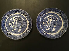 Old Willow Alfred Meakin England Pair Of Saucers Vintage