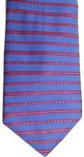 "Van Heusen Men's Silk Tie 57"" X 4""  Blue w/ red Horizontal Striped"