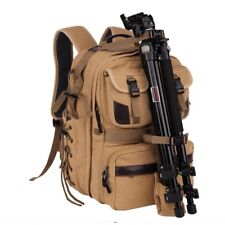 Profession Digital DSLR SLR Camera Bag Rucksack Canvas BackpackS Travel Packsack