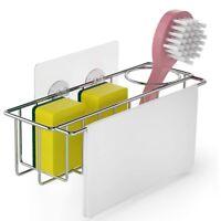 Dish Cloth Hanger+Brush Holder 3-in-1Sink  Organizer Storage for Kitchen Sink