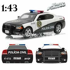 GREENLIGHT 86237 2006 Dodge Charger Fast Five Rio Police Model Car 1:43 NEW!!