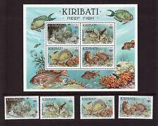 Kiribati MNH 1985 Reef Fish set sheet mint stamps