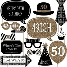 20 PCS 50th Birthday Photo Booth Props Fun Party Decorations, Photo Props, Party