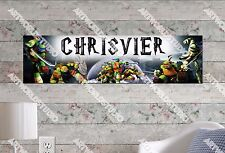 Personalized/Customized Ninja Turtles Name Poster Wall Art Decoration Banner