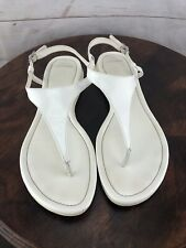 COLE HAAN NikeAir White Leather Women's Thong Sandals Size 9.5 B