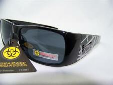Biohazard Sunglasses,Biker,Motorcycle,Outdoor,Shades,Black/Gray,Grey,Item# 156 A