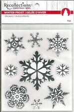 Recollections Christmas Stickers - Winter Frost Snowflakes Silver #1440