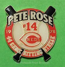 PETE ROSE PHILLIES CINCINNATI REDS 1978 44 GAME HITTING STREAK