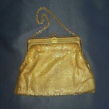 Whiting & Davis gold mesh evening bag 1941 Eagle Rock Court vintage small purse