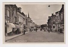 NETHERLANDS FRIESLAND HEERENVEEN OUDE KOEMARKT REAL PHOTO POSTCARD CIRCA 1945