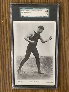 JACK DEMPSEY ~ 1920's Beagles Postcards  SGC Graded 40(3) VG ~ FREE SHIPPING!