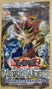Yugioh TCG Trading Card Metal Raiders RARE Promotional Booster Pack Sealed 1996