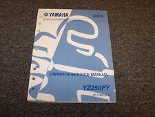 2009 Yamaha YZ250FY YZ250F Motorcycle Dirt Bike Shop Service Repair Manual