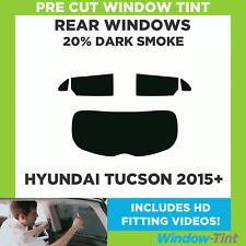 Vorgeschnittene Scheibentönung - Hyundai Tucson 2015 20% Dunkel Hinten