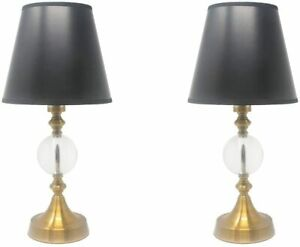 Set of 2 Ellery Touch Accent Lamps, 17-inch Tall for Living Room Bedroom