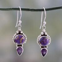 EG_ Fashion Faux Amethyst Gemstone Water Drop Dangle Earrings Women Jewelry Util