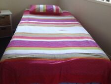 Doona Cover Double Fit King Single Cotton Habitat Brand Pink Multi Coloured 1of3