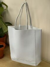 🆕DKNY CROCODILE STYLE MATERIAL White TOTE BAG GREAT XMAS GIFT 100% AUTHENTIC!!