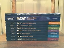 Kaplan MCAT 7-Book Review Set plus Lesson Book and Solutions (3rd Edition)