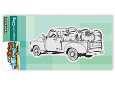 New Penny Black PUMPKIN TRUCK Cling Rubber Stamp Thanksgiving Fall Autumn Harves