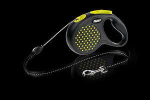 Flexi Retractable Design Dog Cord Leash, Small size 5m, Yellow