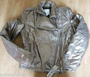 Diesel girl coat XXL (15-16 y) New BNWT gold jacket designer metallic women