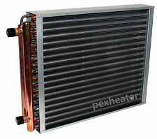 """14x10 Finned Coil Water to Air Heat Exchanger, 1"""" sweat connections"""