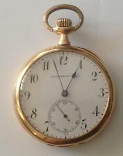 "ANTIQUE ""CRONOMETRO REAL"" OPEN FACE POCKET WATCHE 18K GOLD GENEVE 1897 YEAR!"