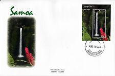 Samoa 2013 FDC Waterfall Part 2 1v S/S Cover Teuila Flower Sopoaga Falls Upolu