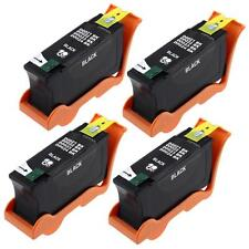 4 Black Ink Cartridges Y498D (series 21) for Dell V313 V313w V515w V715w Printer
