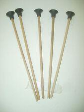 5 FLECHES (arc) EN BOIS  LONGUEUR 45 cm  embout caoutchouc ( artisan createur)