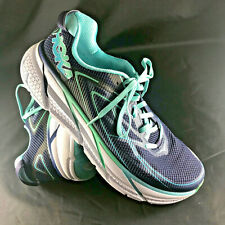 Mint Hoka One One Clifton 3 Women US 9.5 Running Athletic Shoes Navy Blue C9