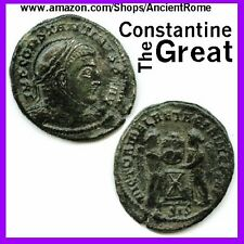 Ancient Coin House CONSTANTINE The GREAT BRONZE COIN IMPERIAL ROMAN EMPIRE