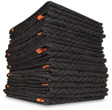 WEN Padded Moving Blankets Polyester Heavy-Duty Machine-Washable (12-Pack)
