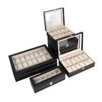 6/10/12/20 Grid Watch Glasses Jewelry Display Box Bracelet Necklace Storage Case