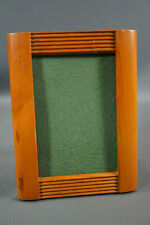 Antique Edwardian Art Deco Photo Picture Frame Cabinet Portrait CDV Light Wood